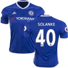 Adult Men's 16/17 Chelsea Dominic Solanke Authentic Blue Home Jersey - 2016/17 Premier League Soccer Shirt