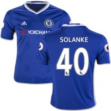 Kid's 16/17 Chelsea Dominic Solanke Authentic Blue Home Jersey - 2016/17 Premier League Soccer Shirt