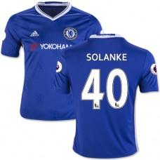 Kid's 16/17 Chelsea Dominic Solanke Blue Home Replica Jersey - 2016/17 Premier League Soccer Shirt