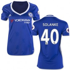 Women's 16/17 Chelsea Dominic Solanke Authentic Blue Home Jersey - 2016/17 Premier League Soccer Shirt