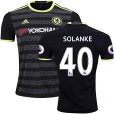 Adult Men's 16/17 Chelsea Dominic Solanke Authentic Black Away Jersey - 2016/17 Premier League Soccer Shirt