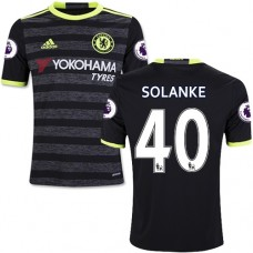 Kid's 16/17 Chelsea Dominic Solanke Authentic Black Away Jersey - 2016/17 Premier League Soccer Shirt
