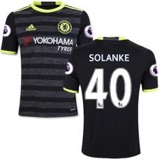 Kid's 16/17 Chelsea Dominic Solanke Authentic Black Away Jersey - 2016/17 Premier League Soccer Shirt