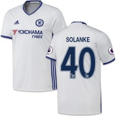Adult Men's 16/17 Chelsea Dominic Solanke Authentic White Third Jersey - 2016/17 Premier League Soccer Shirt